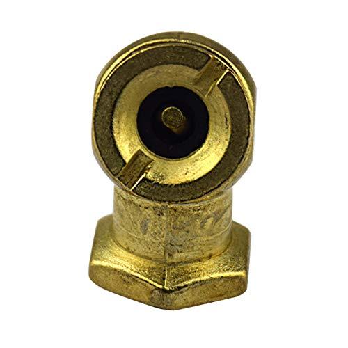 Válvula de inflador YSHtanj, válvula de tanque modificada externa, cabezal de bola de 1/4 pulgadas, válvula de tanque de agua de compresor de línea de aire inflador de neumáticos, de latón, color dorado