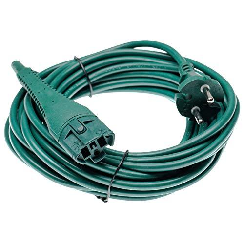 vhbw Cable para alimentación eléctrica compatible con Vorwerk kobold 130, 130 SC,...