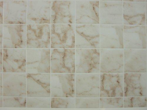 Miniature Square White Marble Tile Flooring