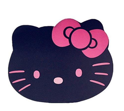 Fashion Cartoon Hello Kitty Optical Mouse pad Personalized Computer Decoration Mouse Pad Mat Non-Toxic Tasteless Mice Mat Mousepad (Black)