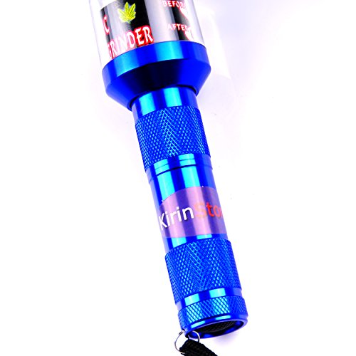 Kirinstores (TM) Flashlight Shaped Herb Tobacco Smoke Spice Crusher Electric Grinder Mill (Blue) by KirinStores