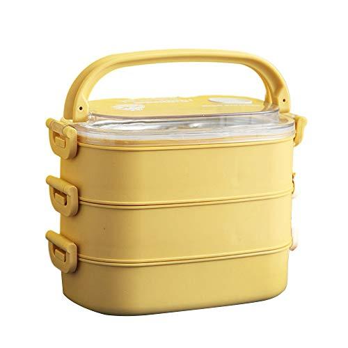 Hourongw Caja Bento para adultos y niños, compartimento sellado de acero inoxidable, portátil, caja de almuerzo de mantenimiento fresco, apto para microondas y lavavajillas y congelador, sin BPA