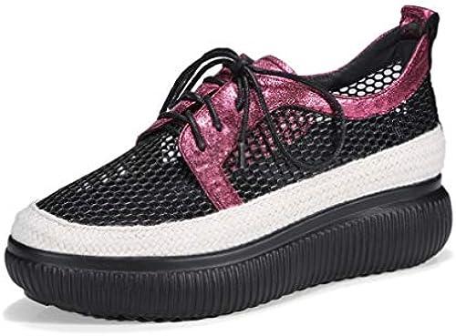 YAN Damenschuhe 2019 Neue Mesh Plattform Schuhe Schuhe Schuhe Lace-Up Loafers Schuhe Damen Sportschuhe komfortable Turnschuhe,A,36  Großhandelspreis und zuverlässige Qualität