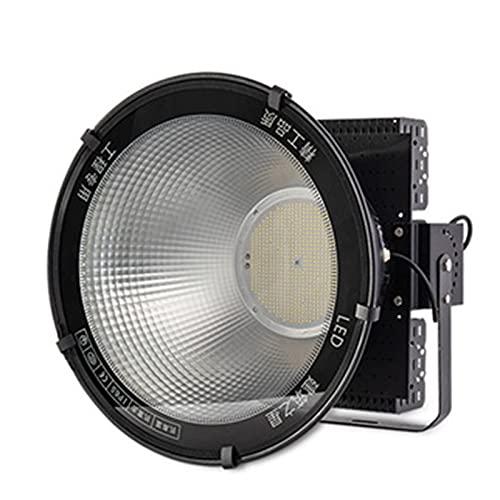 HAI Faretto LED da Esterno 400w 800w 1200w, 6000k Faro LED Ip65 Protezione LED Lampadario A Torre, Lampada di Sicurezza All'aperto per La Strada di Costruzione Quadrato(Size:1200W)