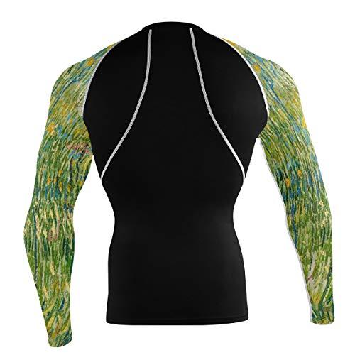 Fantazio Van Gogh Grass T-shirt à manches longues pour vélo de montagne et vélo de route - - L