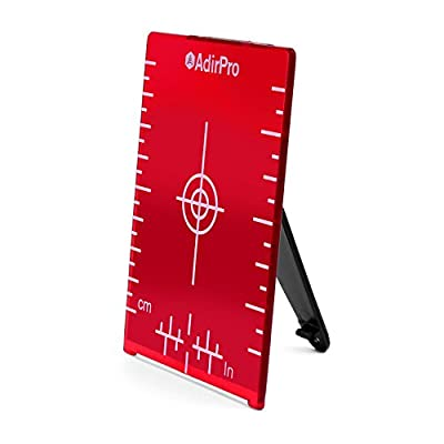 "AdirPro Red Magnetic Floor Target Plate with Stand, 4""x3"""