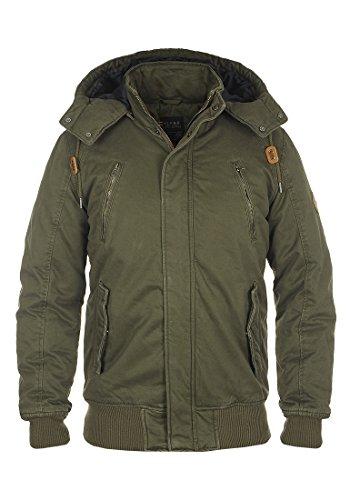 b BLEND Ken Herren Winterjacke Herrenjacke Jacke gefüttert mit Abnehmbarer Kapuze, Größe:M, Farbe:Ivy Green (77086)