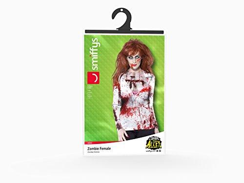 SMIFFYS Zombie Femmina, comprende Maglietta, Stampa a sublimazione