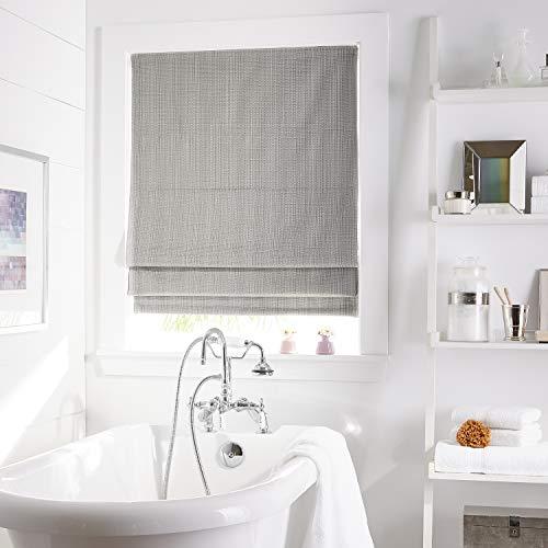 """Curtainworks Jolie Window Shade, 27"""" W x 64"""" L, Grey"""
