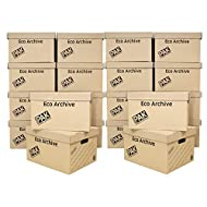 StorePAK Eco Archive 20 Pack/Storage Cardboard Boxes & Lids - Easy to Assemble, Home Storage, Office...