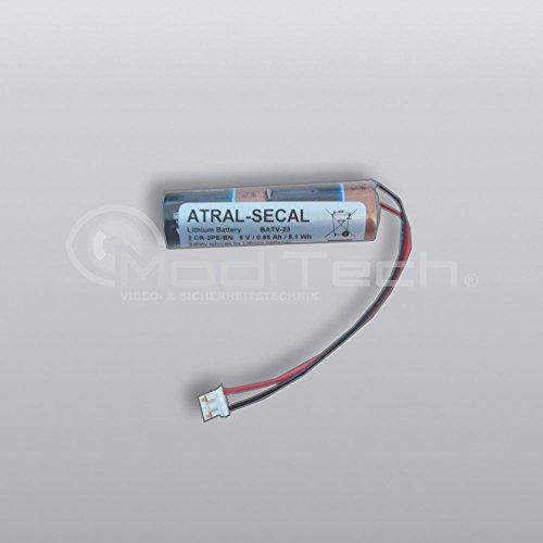 BATV23 - vervangende lithium batterij 6 V/0,9 Ah - Original Daitem Atral