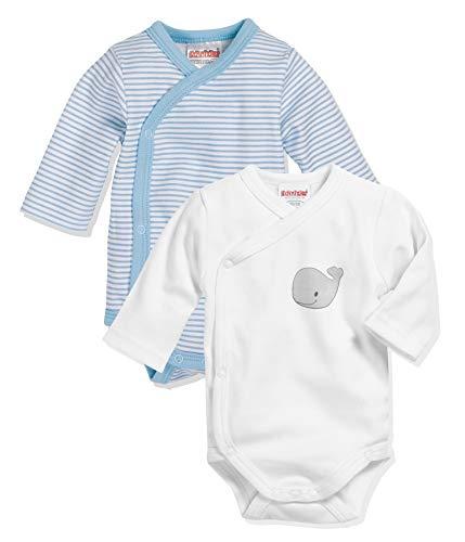 Playshoes Unisex Baby Wickel-body 1/1-arm 2er Pack Wal Baby und Kleinkind Unterw sche Satz, Bleu, 44 EU