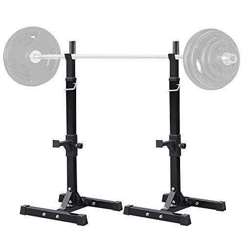 XRTJ Fitness Langhantelständer, Bankdrücken Kniebeugenständer, Einstellbare Hantelablage, Stahl Squat Rack, für Krafttraining 200kg Max