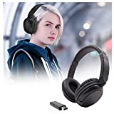 SUSHANG Headphone Over Ear, Wireless Game Headset, Hi-fi Stereo to The Wireless Audio Ear Fm 3.5mm Noise Cancelling Headphone for Cellphone TV, Computer, Gaming Console