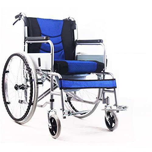 LLS Autopropulsado Silla de Ruedas - Silla de Ruedas Plegable Silla de Ruedas Espesada Tubo de Acero Ancianos Personas con discapacidad transportes de Viaje Estabilidad confiable (Size : #4)
