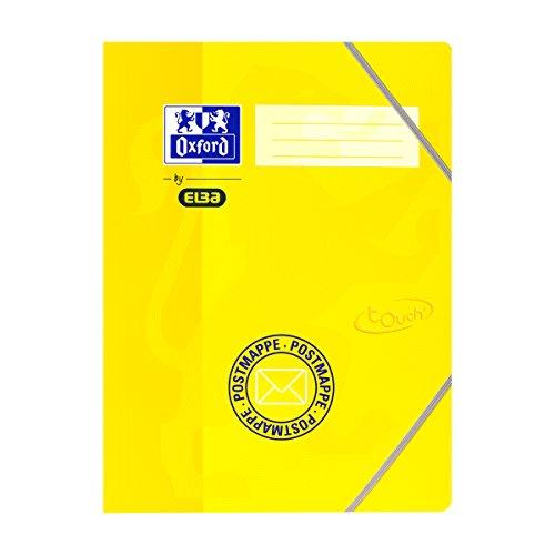 Oxford by ELBA 400103394 10 x Postmappe Format DIN A4 aus Karton in gelb mit soft-touch-Oberfläche, für Kindergarten und Grundschule, für Lehrer- und Elternpost