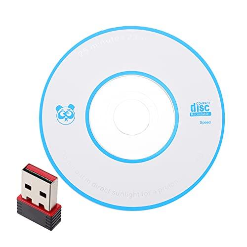 SOLUSTRE Adaptador USB WiFi Mini Tarjeta de Red Inalámbrica Wi- Fi para Ordenador Portátil de Escritorio