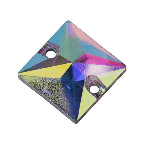 Feine schöne flache Rückseite Crystal Superb Bag Oberfläche Halskette Acryl Tropf Nähen Harz Knopf Tropf Schuhe Kleidung(#7)