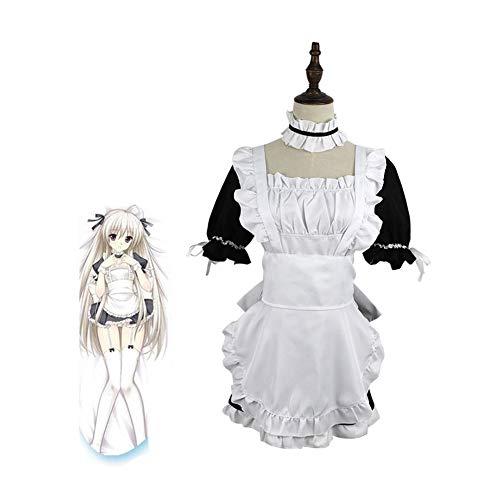 CGBF - Disfraz de anime Kasugano Sora para disfraz de mucama para Halloween, carnaval, fiesta, disfraces, negro, XXXL