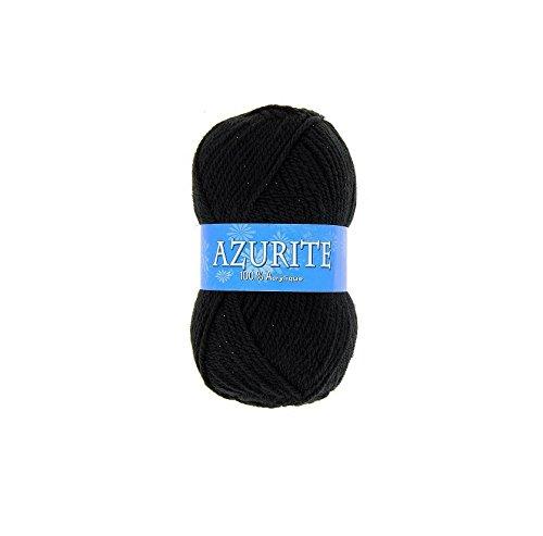 Pelote de laine Azurite 100% Acrylique Tricot Crochet Tricoter - Noir - 585