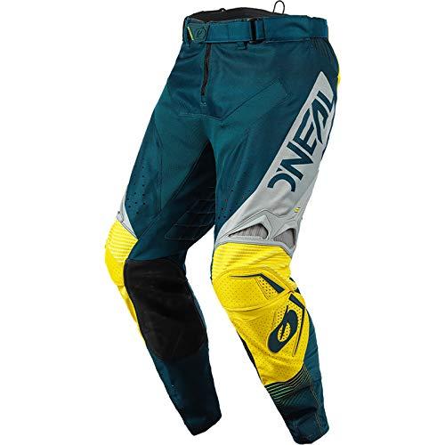 O'NEAL | Motocross-Hose | Enduro Motorrad | Stromlinienförmiges und leichtes Design, Luftdurchlässiges Mesh-Innenfutter| Hardwear Pants Surge | Erwachsene | Blau Grau | Größe 34/50