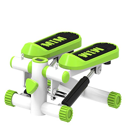 Aerobic Mini Stepper, Swing Stepper, Been Workout, Low Impact Fitness, Low Noise, display toont calorieën verbrand, Workout Time Etc,Green