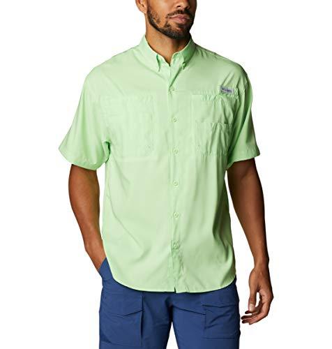 Columbia Tamiami II - Camisa de Manga Corta para Hombre de Tamiami II, Hombre, Tamiami II Camisa de Manga Corta, 128705, Brillo de Lima, 1 Unidad