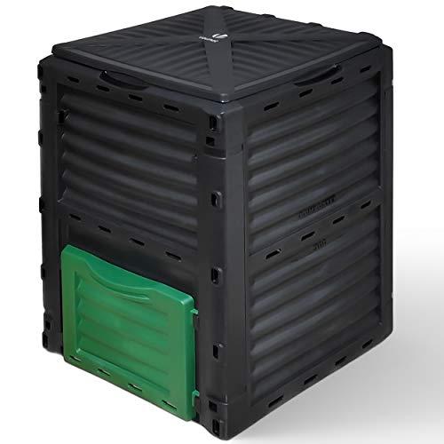 VOUNOT Compostador Jardin 300L, Compostera Organica, Negro