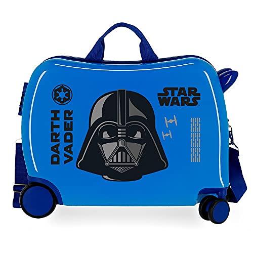 Star Wars Darth Vader Maleta Infantil Azul 50x38x20 cms Rígida ABS Cierre de combinación Lateral 34L 1,8 kgs 4 Ruedas Equipaje de Mano