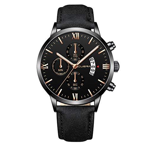 NONGMIN Reloj cronógrafo para Hombre Movimiento de Cuarzo Fashion Business Sports Watch Impermeable Elegante Regalo de los Hombres