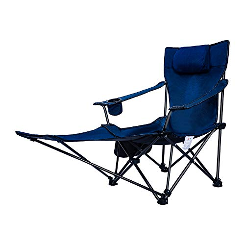 JEAOUIA Folding Camping Chair Comfortabel Lightweight Portable Seat with Cup Holder Footrest and Carry Bag for Travel Fishing Beach Garden Office and Picnic