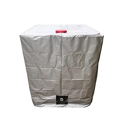 XTHY Wassertank Abdeckplane ,IBC 1000L Tank Abdeckung,IBC Container Cover, Schutzhülle Schutzhaube Schutzplane ,Silber 120x100x116CM