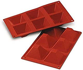 Silikomart 20.007.00.0060 SF007 Moule Forme Pyramides 6 Cavités Silicone Terre Cuite
