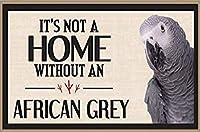 ヨウムなしでは家にない装飾的な鳥のサイン