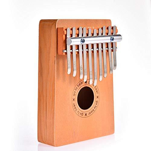 Neckip 10 Schlüssel Holz Daumen Finger Klavier Kalimba Musikinstrument Kinderspielzeug
