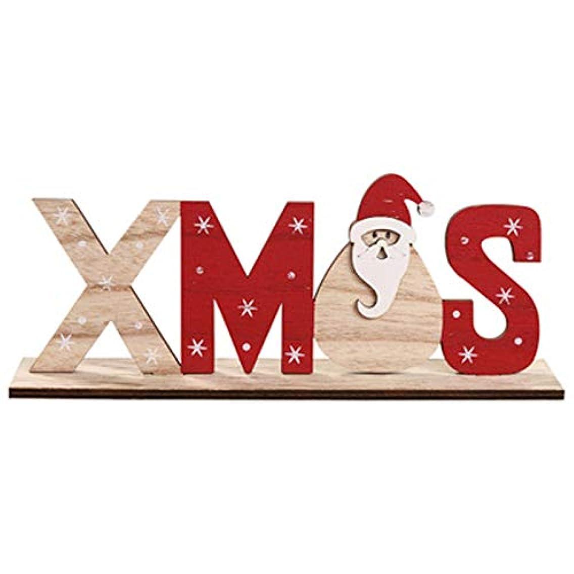 三番本困難クリスマスパーティーの家の休日のテーブルのために耐久の木製の手紙の装飾の装飾