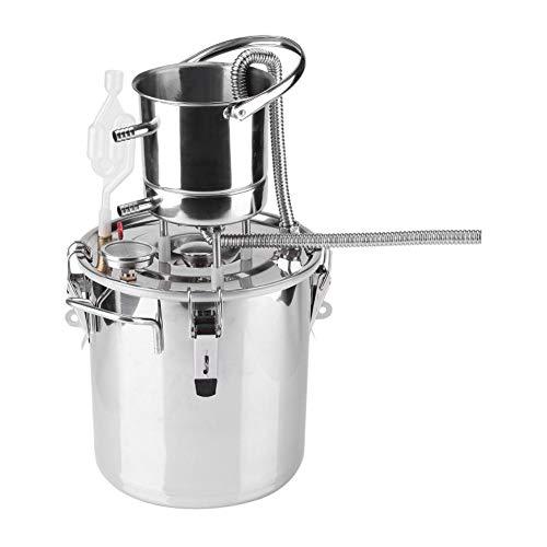 Bollitore per vino, Distillatore di alcolici Kit per la preparazione della casa o piccola miscela di birra per la casa in acciaio inox Dispositivo per la produzione di vino alcolico Attrezzatura(10L)