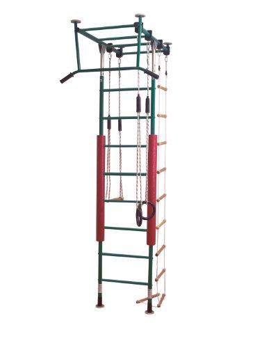 KletterDschungel - das Original - in Kindergartenqualität. Die Indoor Sprossenwand als Klettergerüst(Grün, Raumhöhe_240-300cm)