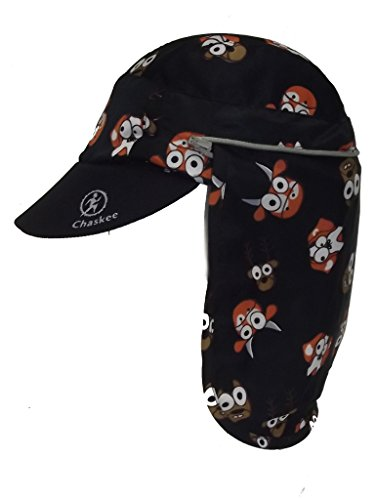 Chaskee Casquette protège Nuque Junior Zuma Zip Animal Black