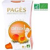 Pagès Infusion Bio Détox Romarin/Abricot - 10 Capsules Compatibles Avec Les Machines Nespresso - Lot De 3