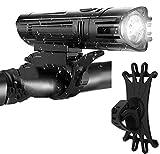 Bike Light,Bright Rechargeable Bike Headlight(with Bike Phone Mount)