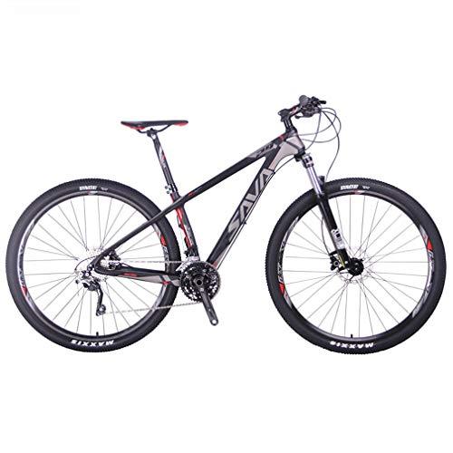 SAVANE Bicicleta Montaña,DECK6.0 Bicicleta de montaña Carbono Ultraligera MTB de 29 Pulgadas con Cola rígida Completa con Shimano DEORE M6000 Gpuppreset de 30 velocidades