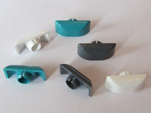 Design-Entwässerungskappe half-pipe weiß (VE: 20 Stück)