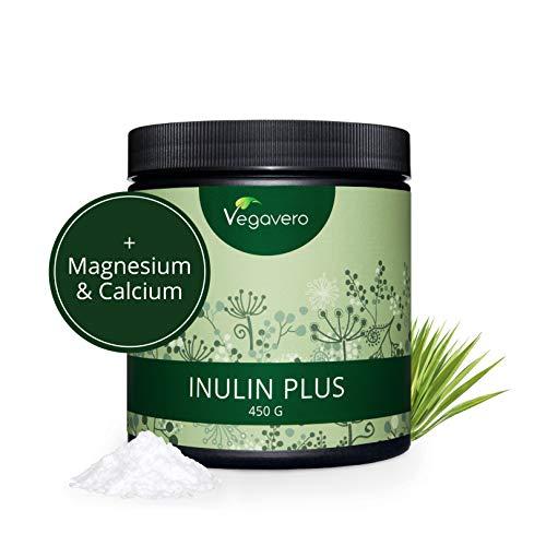 INULINA BIO Vegavero® | Probiotico e Prebiotico per la Flora Intestinale | Con Calcio e Magnesio | in POLVERE da 450 g | Vegan