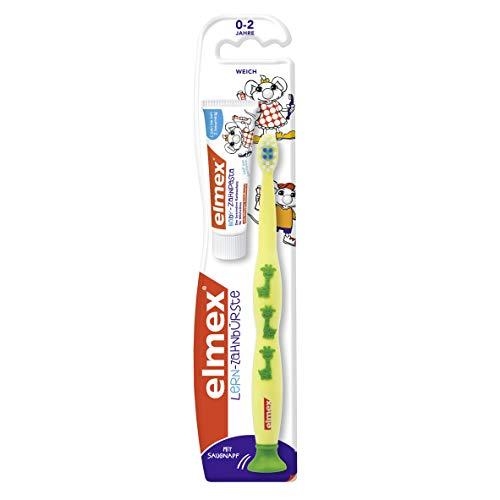 elmex Lern-Zahnbürste mit elmex Kinder-Zahnpasta 12 ml, 0-2 Jahre, sortiert, 6er Pack (6 x 1 Set)