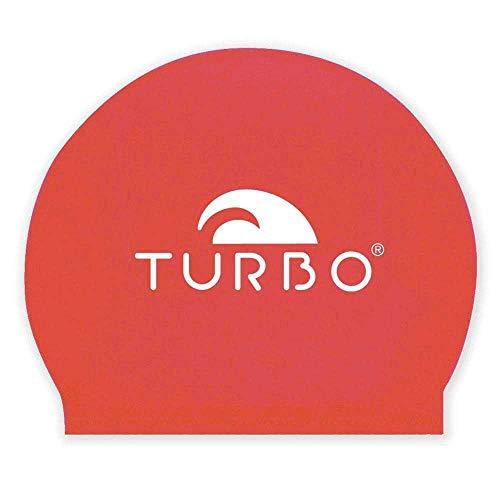 TurboTronic Latex Boina, Rojo, Talla única Unisex Adulto