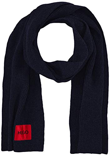 HUGO Mens Zaff 3 Cold Weather Scarf, Navy (410), ONESI