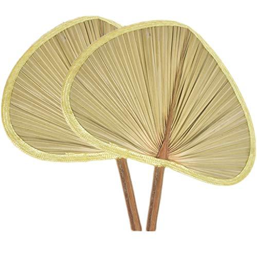 Ventilador Big PU Fan Banana Fan a la antigua PU HIERDA Mano ventilador ventilador ventilador manual ventilador ventilador ventilador de bambú de mano Raffia Woven Fan con hojas completas, muy adecuad