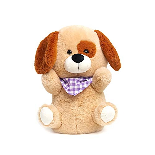 Cuddle Barn - Tickles & Giggles Roscoe | Animated Singing Ticklish Puppy Stuffed Animal Plush Toy with Touch Sensor Tummy Sings B I N G O, 10 Inches
