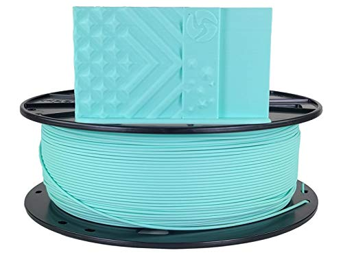 3D Fuel Pro PLA (PLA+) 3D Printing Filament, Made in USA with High Impact Strength & Dimensional Accuracy +/- 0.02 mm, 1 kg (2.2 lbs) 1.75mm Spool in Aquamarine